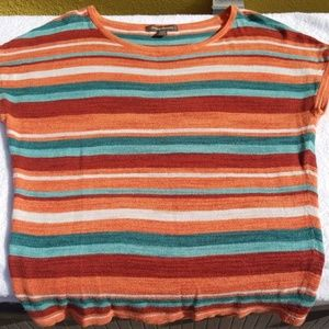 Tommy Bahama Multicolor Stripe Cotton Top SZ M